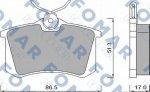 Колодки тормозные задние Fomar 035010016