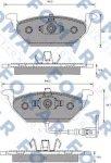 Колодки тормозные передние Fomar 035010017