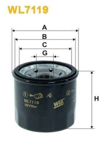 Фильтр масляный WIX 96570765