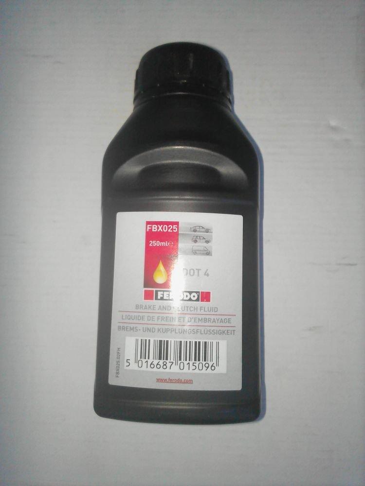 Тормозная жидкость FERODO DOT 4 0.25
